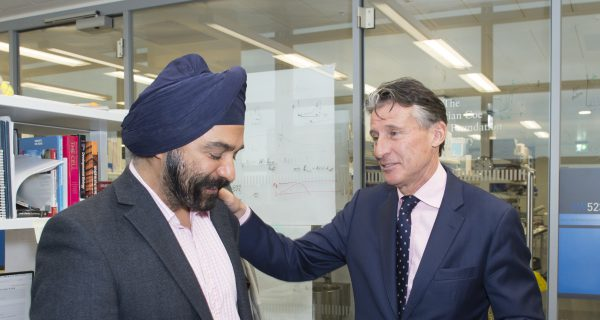 Seb Visits The Francis Crick Institute With Sir Harpal Kumar And Strutt & Parker